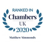 Chambers UK 2020 Matthew Simmonds