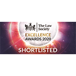 Law Society Excellence Awards 2020 – shortlisted