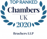 Chambers UK top ranked law firm Logo Brachers