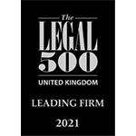 The Legal 500 – Leading Firm 2021