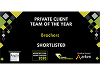 Shortlisted for the Private Client Team of the Year 2020