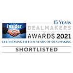 Shortlisted for South East Dealmakers Awards 2021