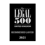 Legal 500 – Recommended Lawyer 2021