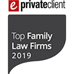 ePrivate Client Top Family Law Firms 2019 Logo